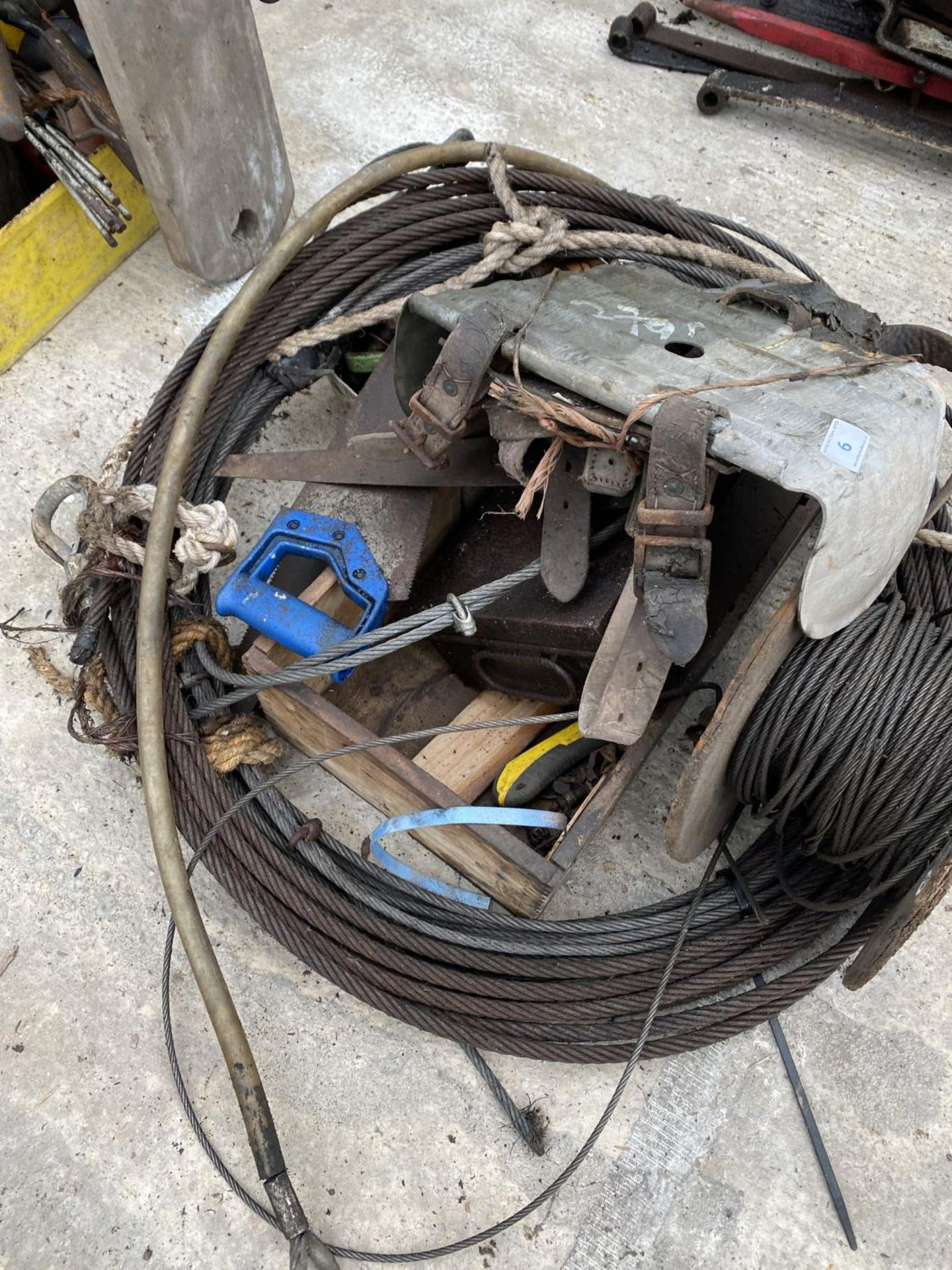 VARIOUS WIRE ROPES - NO VAT - Image 2 of 3