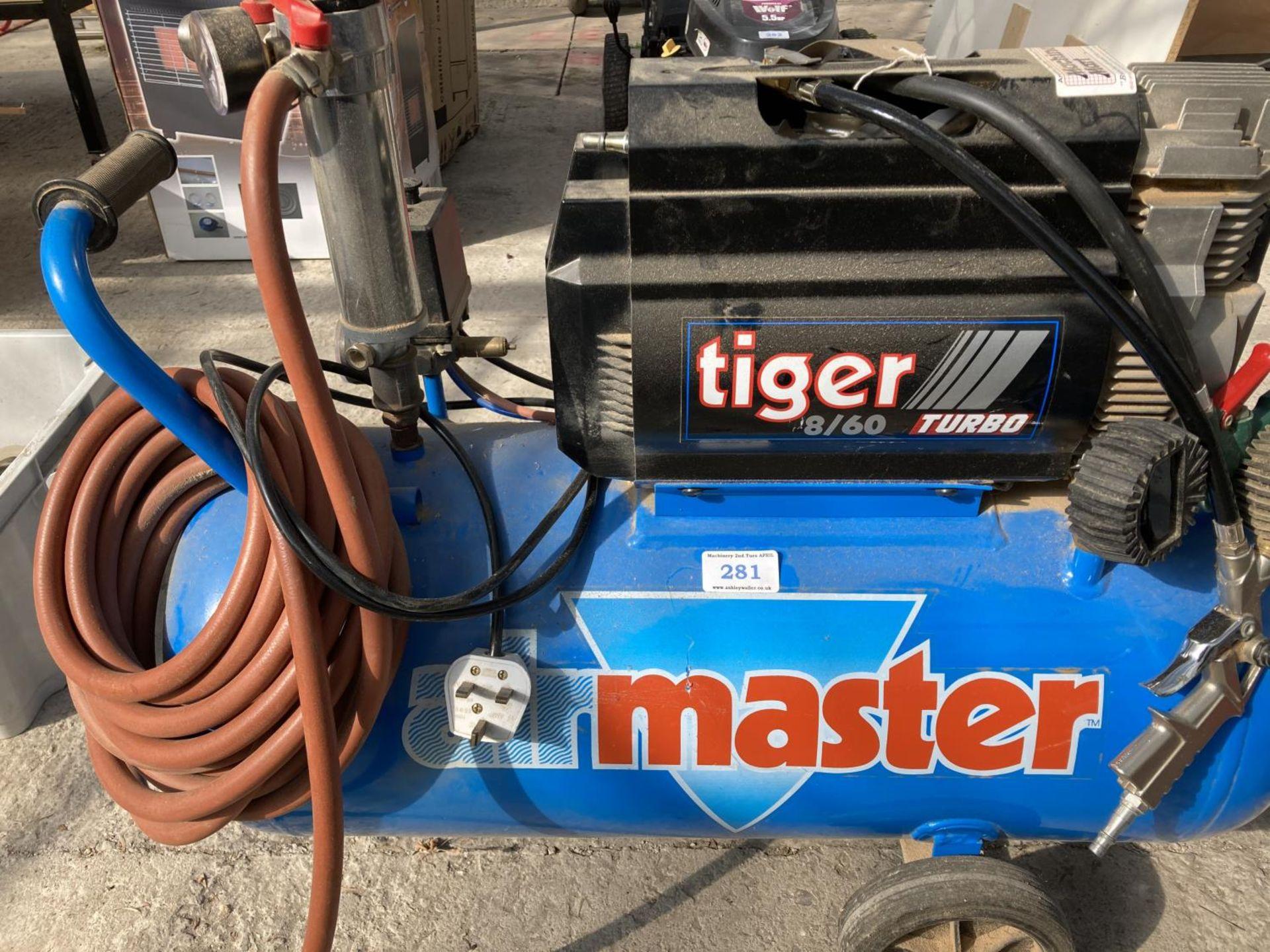 A MASTER TIGER 8/60 TURBO COMPRESSOR NO VAT