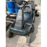A HAYTER 10 HP 30 INCH ELECTRIC START RIDE ON LAWN MOWER BELIEVED WORKING NO WARRANTY NO VAT