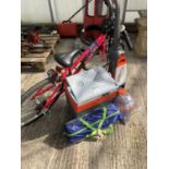 FOUR VARIOUS ITEMS TO INCLUDE A BIKE, TENT, PLUG IN COOL BOX AND A CARPET CLEANER NO VAT