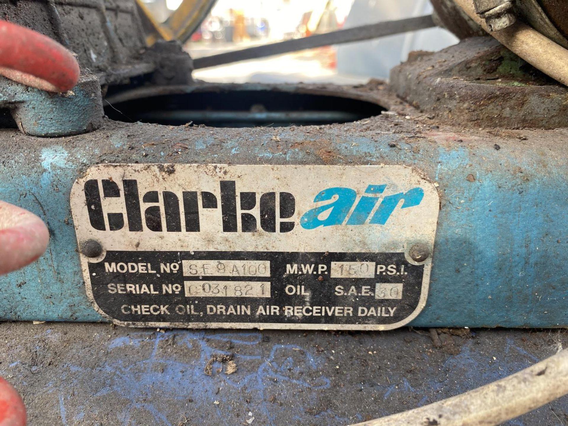 A CLARKE COMPRESSOR + VAT - Image 5 of 7