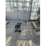 A LADDER AND TWO WITTER TOW BARS 125KG NO VAT