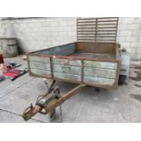 A TWIN AXLE TRAILER WITH LOADING REAR GATE 10X5 FOOT 6INCH NO VAT
