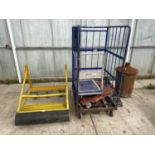 VARIOUS TROLLEYS AND AN INCINERATOR NO VAT