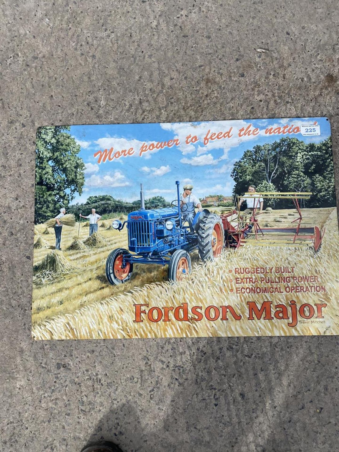 FORDSON MAJOR SIGN + VAT