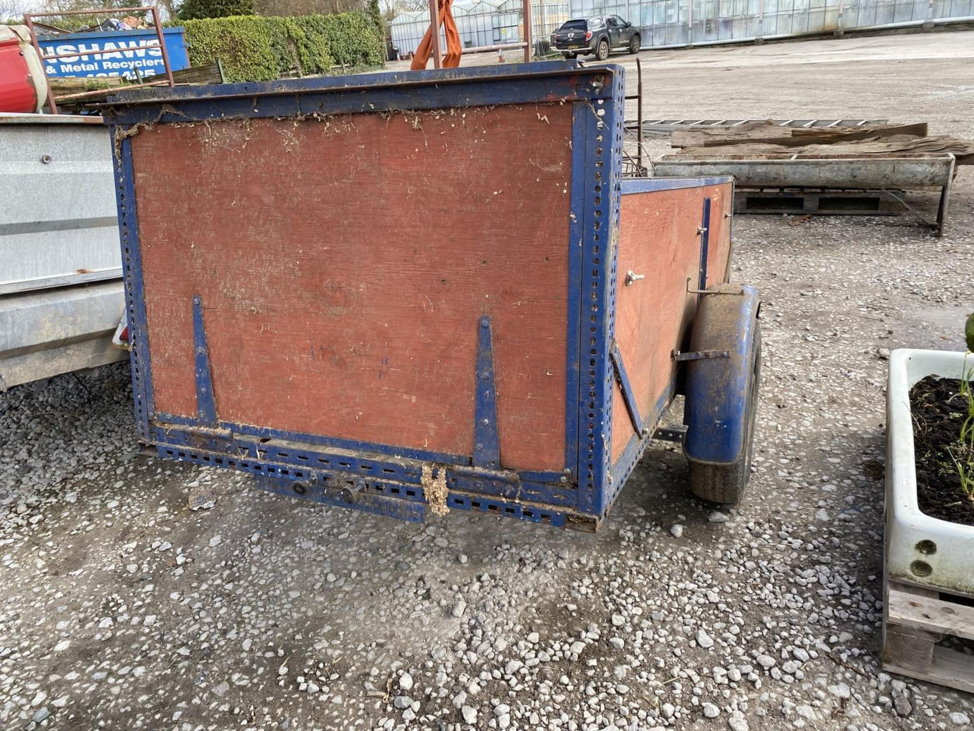 A TWO WHEELED TRAILER AND CONTENTS + VAT - Image 3 of 3