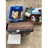 A RUTLAND SANDER AND TWO BOXES OF BELTS NO VAT