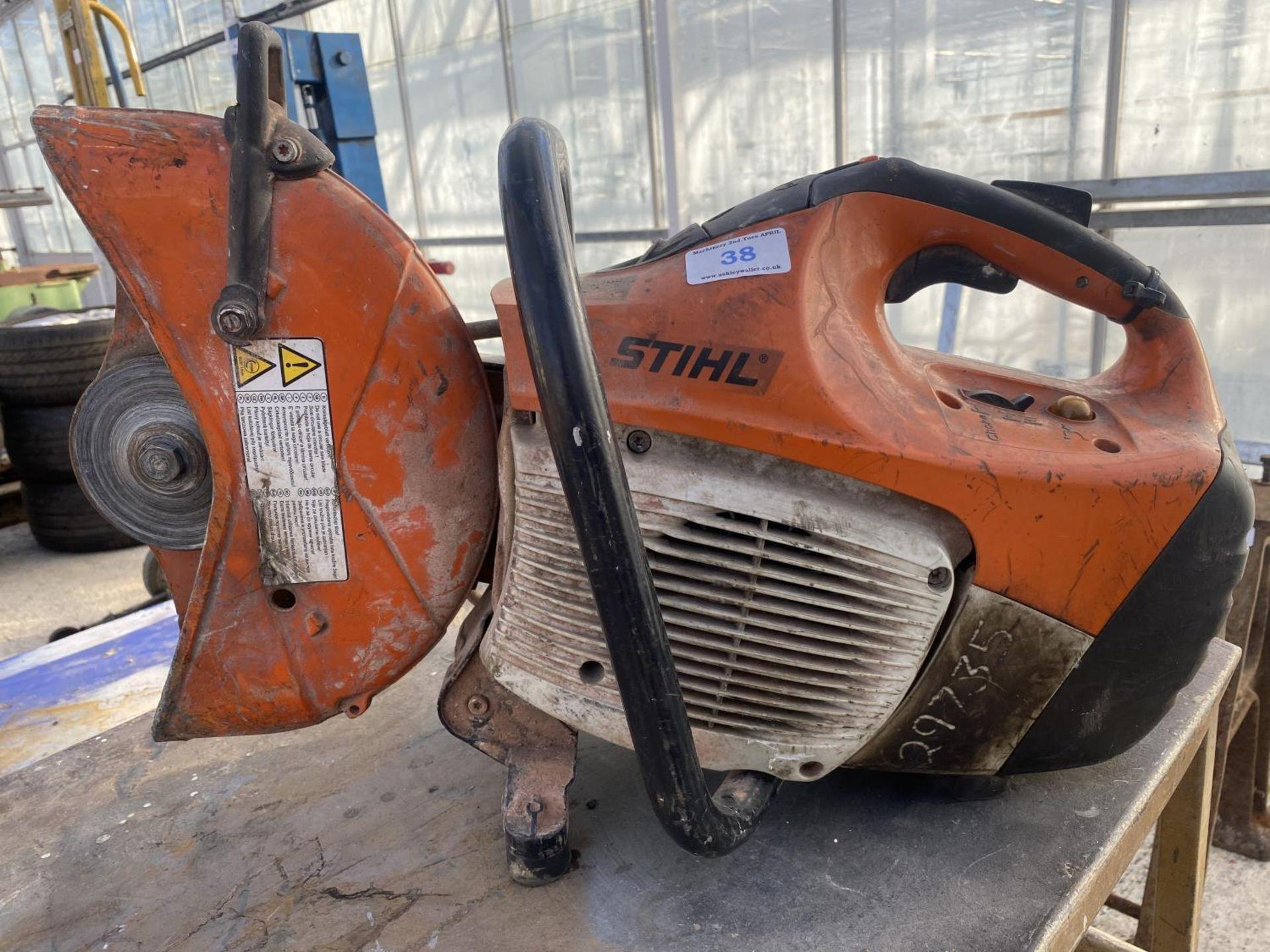 A STIHL TS140 STONE CUTTER NO VAT