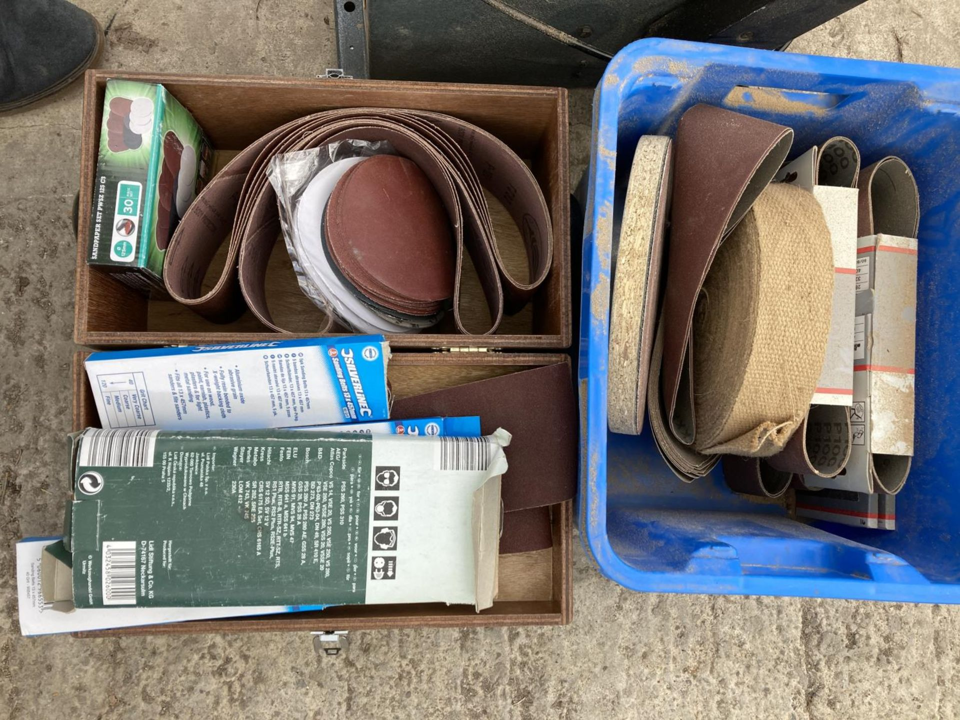 A RUTLAND SANDER AND TWO BOXES OF BELTS NO VAT - Image 2 of 3