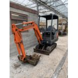 A 2003 HITACHI ZAXS 16U MINI EXCAVATOR, 3332 HOURS- NO VAT-FOR VIDEO SEE https://www.youtube.com/