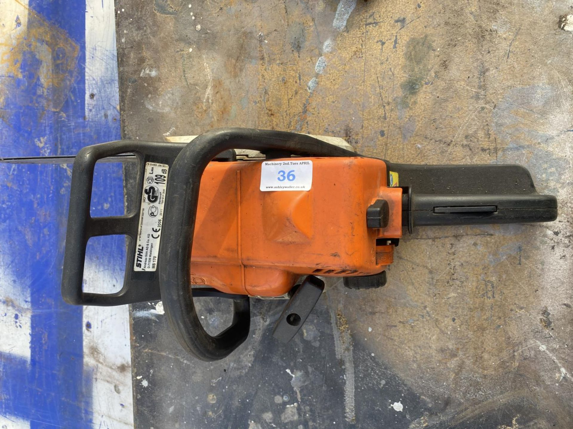 A STIHL MS170 CHAINSAW NO VAT - Image 4 of 6