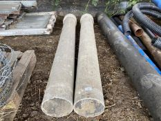 "TWO CONCRETE PIPES 9' 3"" LONG 8"" DIAMETER"