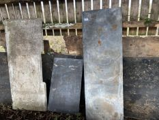 THREE PIECES OF MARBLE AND SLATE