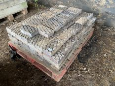 A PALLET OF STAFFORDSHIRE BLUE DIAMOND BRICKS APPROX 260 GRADE 2
