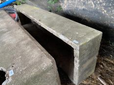 "A CONCRETE CATTLE WATER TROUGH 7' 10"" LONG, 2' WIDE 16"" HIGH"