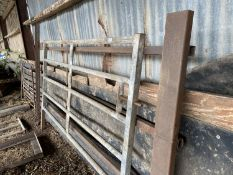 "A BOX GIRDER CATTLE HURDLE 11' 6"" LONG AND A GALVANISED CATTLE HURDLE 7' 6"" LONG"