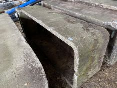 "A CONCRETE CATTLE WATER TROUGH 6' 6"" LONG, 2' 2"" WIDE 18"" HIGH"