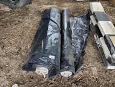 TWO ROLLS OF BLACK PLASTIC - 8 METRES WIDE