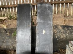 "TWO PIECES OF SLATE 5' 6"" LONG"