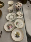A COLLECTION OF CHINA TO INCLUDE ROYAL WORCESTER, WEDGWOOD ETC
