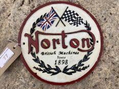 NORTON CAST IRON SIGN NO VAT