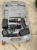 A BATTERY POWERED 18V HAMMER DRILL DRIVER
