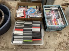 A LARGE QUANTITY OF DVDS TO ALSO INCLUDE SOME COMPUTER GAMES