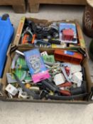 AN ASSORTMENT OF TOOLS AND HARD WARE ITEMS TO INCLUDE A DRILL SHARPENER AND HOOKS ETC