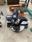 AN ELECTRIC MITRE SAW AND A MINILOR SCROLL SAW BOTH BELIEVED WORKING ORDER BUT NO WARRANTY