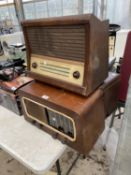 THREE VINTAGE RADIOS TO INCLUDE A FERGUSON AND A PYE ETC
