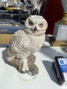 AN ANIMAL CLASSICS CERAMIC OWL
