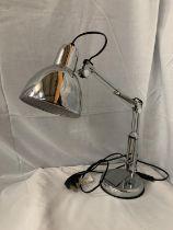 A CHROME ANGLE POISE DESK LAMP