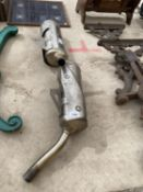 TWO TRIUMPH EXHAUST PIPES