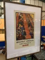 A FRAMED HORACE TAYLOR PRINT OF THE LONDON UNDERGROUND