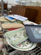 A LARGE QUANTITY OF CHOPPING BOARDS AND TRAYS