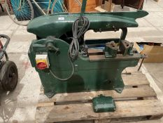 A LARGE ELECTRIC METAL SAW BELIEVED WORKING BUT NO WARRANTY, IN WORKING ORDER