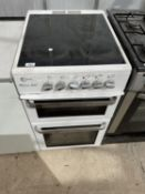 A WHITE FLAVEL OVEN AND HOB BELIEVED IN WORKING ORDER BUT NO WARRANTY