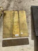 FOUR BRASS PUSH PLATES