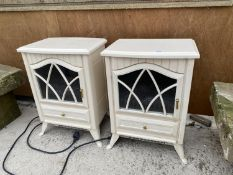 A PAIR OF ELECTRIC HEATERS