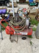 A CLARKE HUNTER AIR COMPRESSOR BELIEVED WORKING ORDER BUT NO WARRANTY