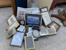 A LARGE QUANTITY OF FRAMED PRINTS AND PICTURES TO ALSO INCLUDE A LARGE NUMBER OF EMPTY PHOTO FRAMES