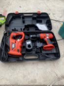 A BLACK AND DECKER SET WITH A DRILL AND A SAW