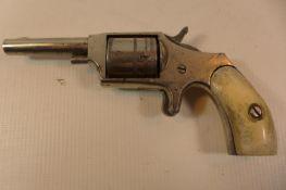 """A 32 RIMFIRE HOPKINS & ALLEN """"DICTATOR"""" SIX SHOT REVOLVER WITH 7.5CM BARREL"""