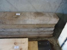 """7 TIMBERS 6 X 6.25""""X3"""" 15'2""""LONG AND ONE 5.75""""X3"""" 9'10"""" LONG"""