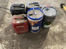 6 DRUMS -2 X GEAR OIL, 1 X KEROSENE, 1 X ANTIFREEZE, 2 X UNIVERSAL OIL.