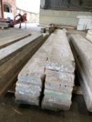 """SCAFFOLD PLANKS 7.25"""" x 2"""" LONGEST 12'1"""" - SHORTEST 5'9"""" TO BE SOLD PER PLANK WITH THE OPTION ON THE"""