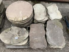 PALLET ON INDIAN STONE (APPROX 35 PCS.)