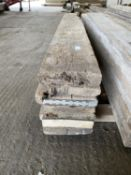 """SCAFFOLD PLANKS 4.75"""" x 2"""" LONGEST 11'8"""" - SHORTEST 9'8"""" TO BE SOLD PER PLANK WITH THE OPTION ON THE"""