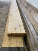 """TWO TIMBERS ONE AS NEW 1 9X3""""-14'9"""" LONG & 1 8.75""""X2"""" 13'9"""" LONG"""