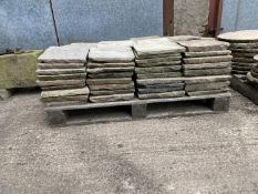 """PALLET OF INDIAN STONE 11""""X11"""" (APPROX 95)"""